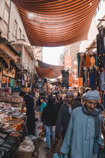 Busy market in Egypt